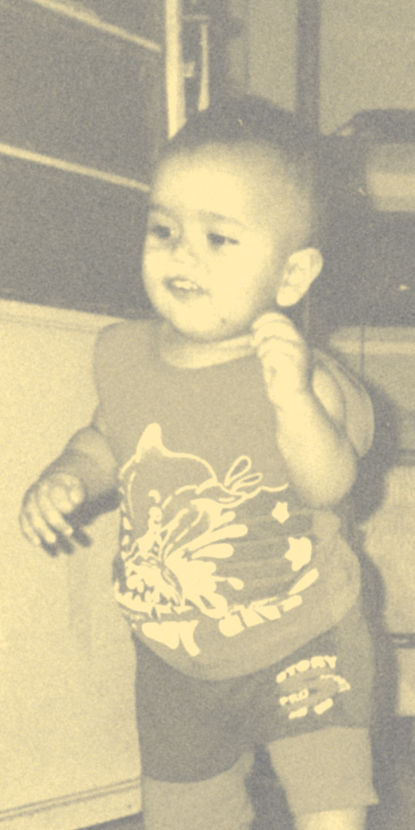 Foto mostra Erick quando bebê