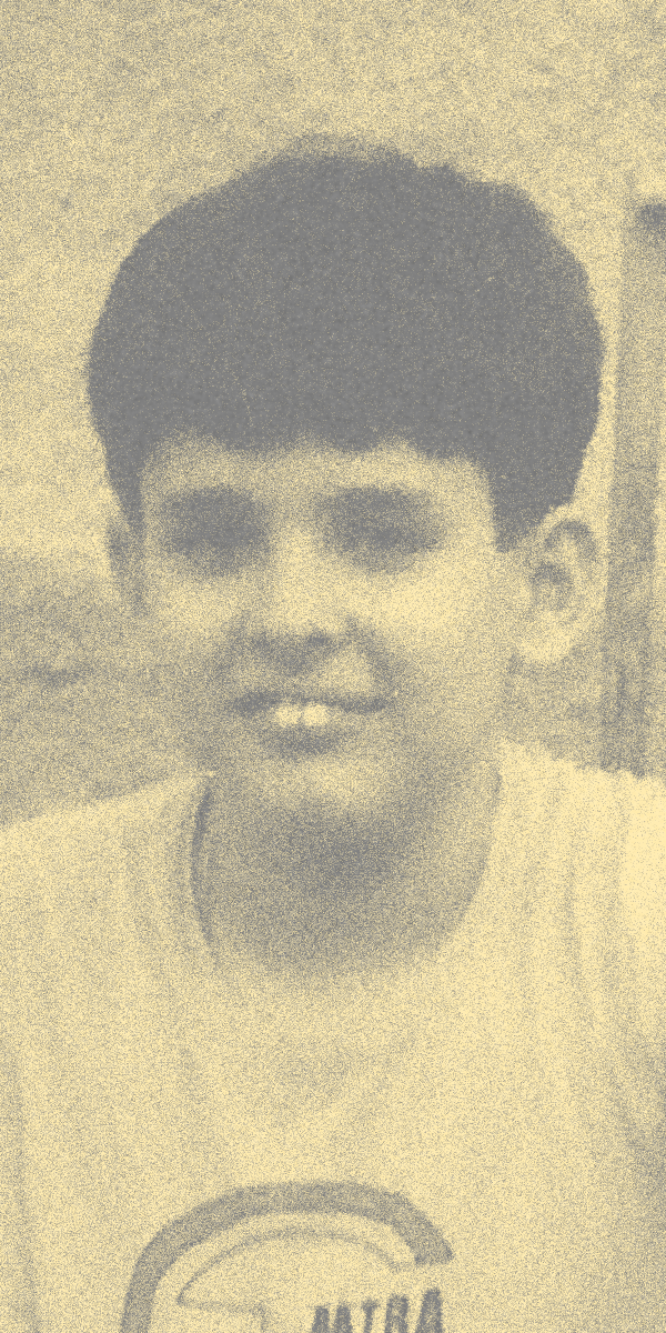 Foto de Thiago Queiroz quando criança