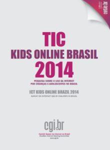 """Capa do estudo: """"TIC kids online Brasil 2014"""""""
