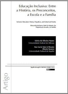 Foto de um documento: Educação Inclusiva: Entre a história, os preconceitos, a escola e a família.