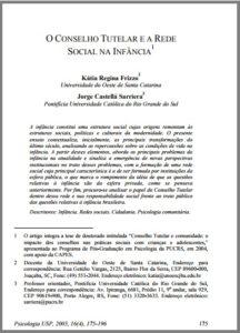 Foto de um documento: O conselho tutelar e a rede social na infância.