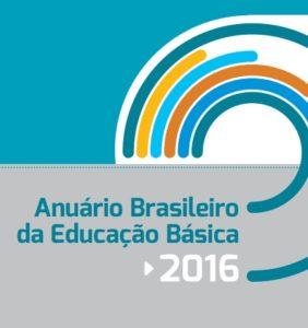 """Capa do anuário: """"Anuário brasileiro da educação básica 2016"""""""