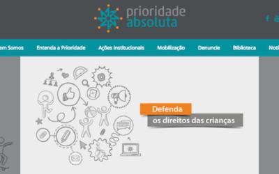 Captura de tela da página web prioridade absoluta.