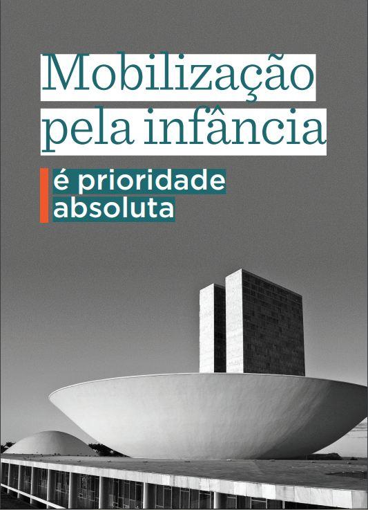 Capa da cartilha: Mobilização pela infância.